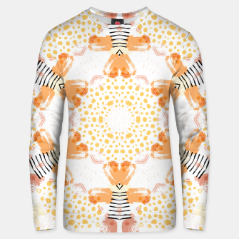 Thumbnail image of Yellow Kaleidoscope Mandala Unisex sweater, Live Heroes