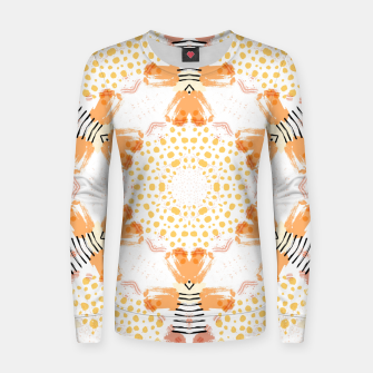 Thumbnail image of Yellow Kaleidoscope Mandala Women sweater, Live Heroes