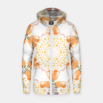 Thumbnail image of Yellow Kaleidoscope Mandala Zip up hoodie, Live Heroes