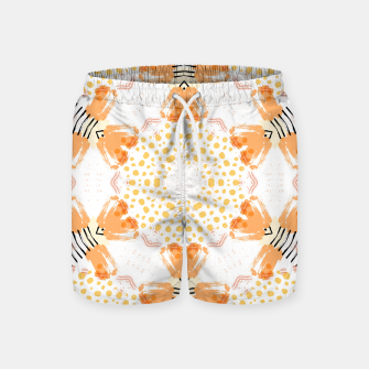 Thumbnail image of Yellow Kaleidoscope Mandala Swim Shorts, Live Heroes