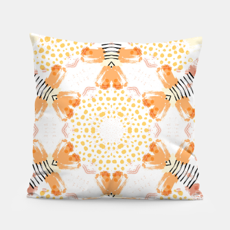 Thumbnail image of Yellow Kaleidoscope Mandala Pillow, Live Heroes
