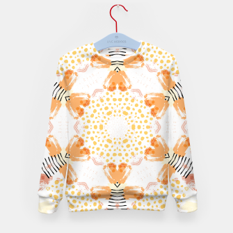 Thumbnail image of Yellow Kaleidoscope Mandala Kid's sweater, Live Heroes