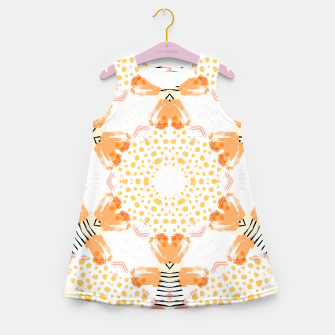 Thumbnail image of Yellow Kaleidoscope Mandala Girl's summer dress, Live Heroes