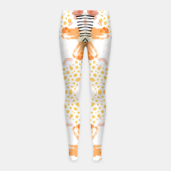 Thumbnail image of Yellow Kaleidoscope Mandala Girl's leggings, Live Heroes