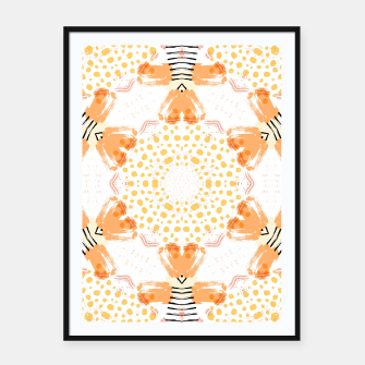 Thumbnail image of Yellow Kaleidoscope Mandala Framed poster, Live Heroes