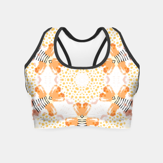 Thumbnail image of Yellow Kaleidoscope Mandala Crop Top, Live Heroes