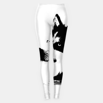 Miniatur Husky Head Leggings, Live Heroes