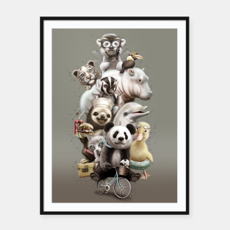 Miniatur ZOO ESCAPE Framed poster, Live Heroes