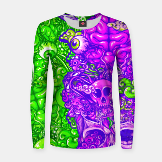 Thumbnail image of Brain Doodle Strong Women sweater, Live Heroes