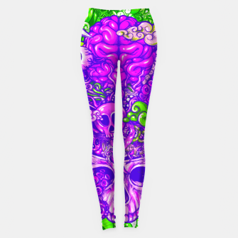 Thumbnail image of Brain Doodle Strong Leggings, Live Heroes