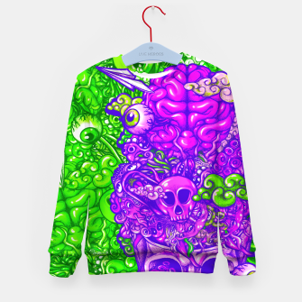 Thumbnail image of Brain Doodle Strong Kid's sweater, Live Heroes