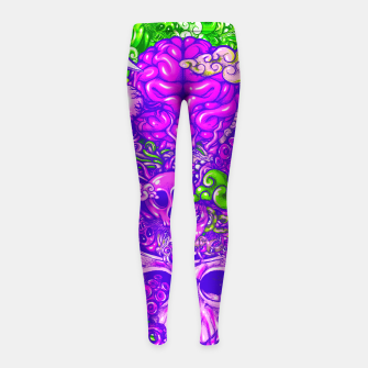 Thumbnail image of Brain Doodle Strong Girl's leggings, Live Heroes