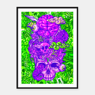 Thumbnail image of Brain Doodle Strong Framed poster, Live Heroes