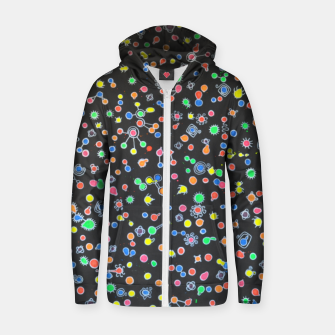 Thumbnail image of NEON DROPS BACTERIA Zip up hoodie, Live Heroes