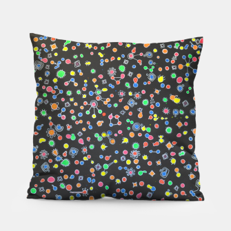 Thumbnail image of NEON DROPS BACTERIA Pillow, Live Heroes