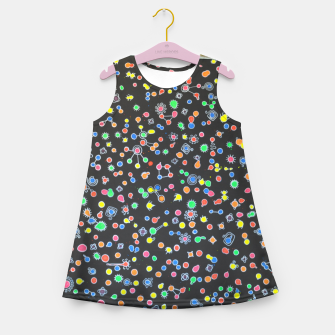 Thumbnail image of NEON DROPS BACTERIA Girl's summer dress, Live Heroes
