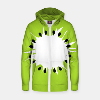 Miniatur Kiwi summer fruit also known as Chinese gooseberry Zip up hoodie, Live Heroes