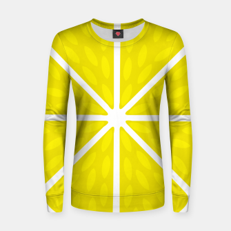 Miniaturka Fresh juicy lime- Lemon cut sliced section Women sweater, Live Heroes