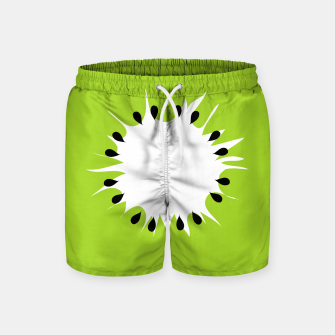 Miniatur Kiwi summer fruit also known as Chinese gooseberry Swim Shorts, Live Heroes