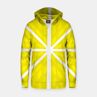 Miniaturka Fresh juicy lime- Lemon cut sliced section Zip up hoodie, Live Heroes