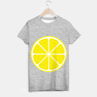 Miniaturka Fresh juicy lime- Lemon cut sliced section T-shirt regular, Live Heroes
