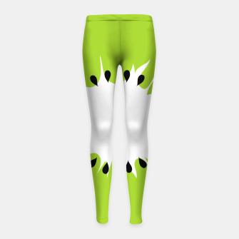 Miniatur Kiwi summer fruit also known as Chinese gooseberry Girl's leggings, Live Heroes