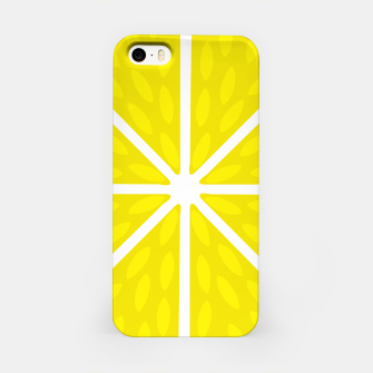 Miniaturka Fresh juicy lime- Lemon cut sliced section iPhone Case, Live Heroes