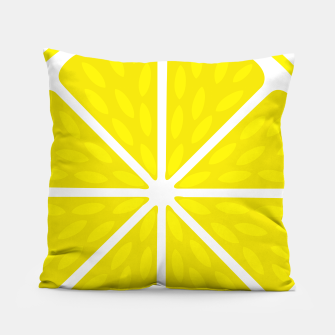 Miniaturka Fresh juicy lime- Lemon cut sliced section Pillow, Live Heroes