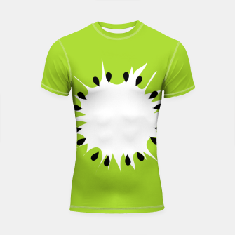 Miniatur Kiwi summer fruit also known as Chinese gooseberry Shortsleeve rashguard, Live Heroes