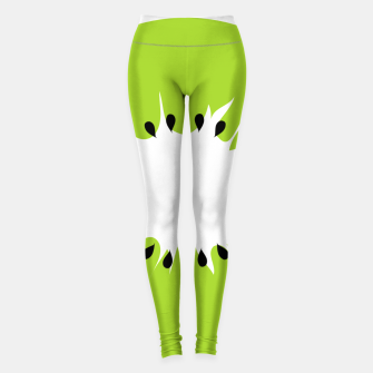 Miniatur Kiwi summer fruit also known as Chinese gooseberry Leggings, Live Heroes