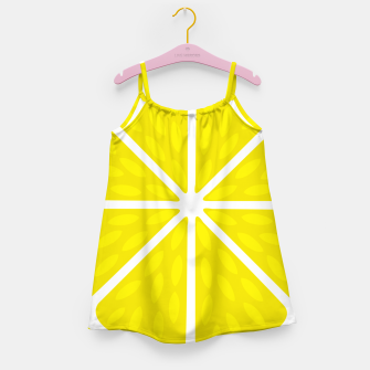 Miniaturka Fresh juicy lime- Lemon cut sliced section Girl's dress, Live Heroes