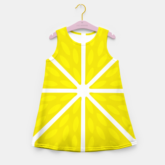 Miniaturka Fresh juicy lime- Lemon cut sliced section Girl's summer dress, Live Heroes