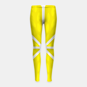 Miniaturka Fresh juicy lime- Lemon cut sliced section Girl's leggings, Live Heroes