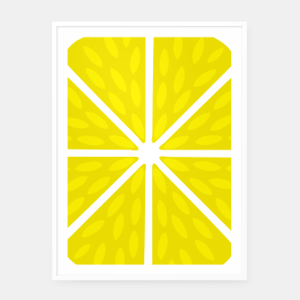 Miniaturka Fresh juicy lime- Lemon cut sliced section Framed poster, Live Heroes