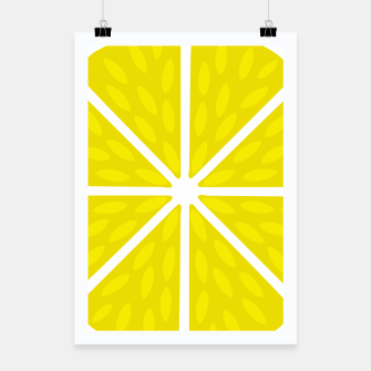 Miniatur Fresh juicy lime- Lemon cut sliced section Poster, Live Heroes