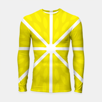 Miniaturka Fresh juicy lime- Lemon cut sliced section Longsleeve rashguard , Live Heroes