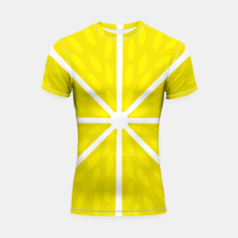 Miniaturka Fresh juicy lime- Lemon cut sliced section Shortsleeve rashguard, Live Heroes