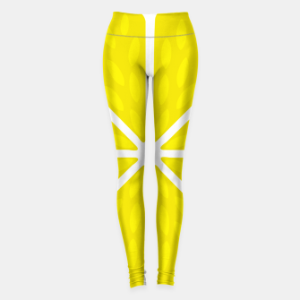 Miniaturka Fresh juicy lime- Lemon cut sliced section Leggings, Live Heroes