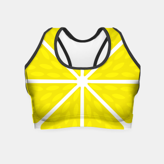 Miniaturka Fresh juicy lime- Lemon cut sliced section Crop Top, Live Heroes