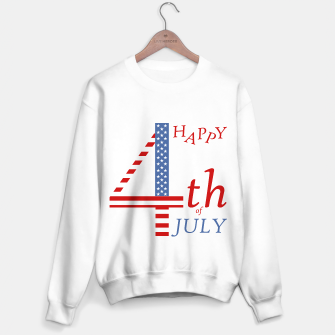 Thumbnail image of 4th of july Independence day greeting- US flag colors and stylized lettering Sweater regular, Live Heroes