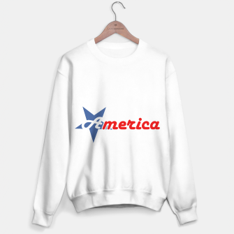 American star- American flag colors and star- 4th of July independence day Sweater regular Bild der Miniatur