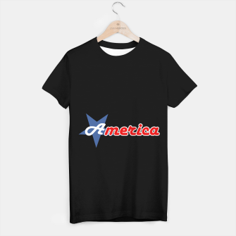 American star- American flag colors and star- 4th of July independence day T-shirt regular Bild der Miniatur