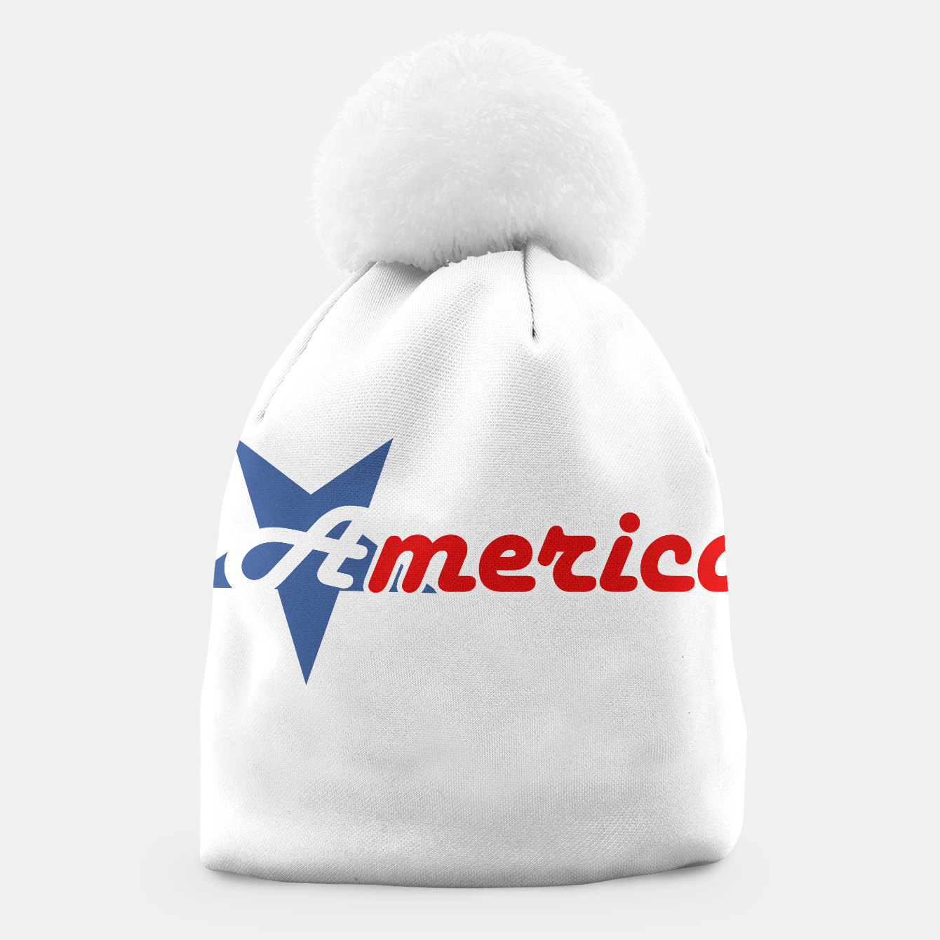 Foto American star- American flag colors and star- 4th of July independence day Beanie - Live Heroes