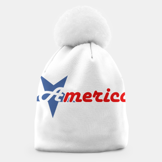 Thumbnail image of American star- American flag colors and star- 4th of July independence day Beanie, Live Heroes