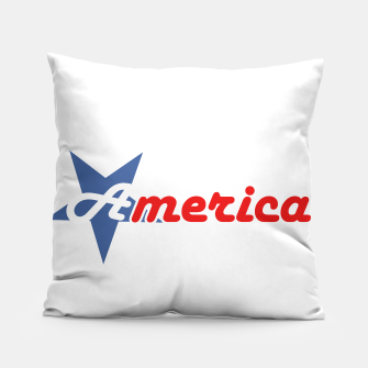 American star- American flag colors and star- 4th of July independence day Pillow Bild der Miniatur