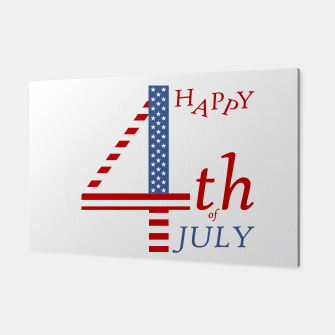 Thumbnail image of 4th of july Independence day greeting- US flag colors and stylized lettering Canvas, Live Heroes