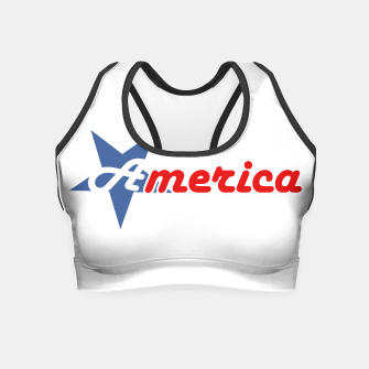 American star- American flag colors and star- 4th of July independence day Crop Top Bild der Miniatur