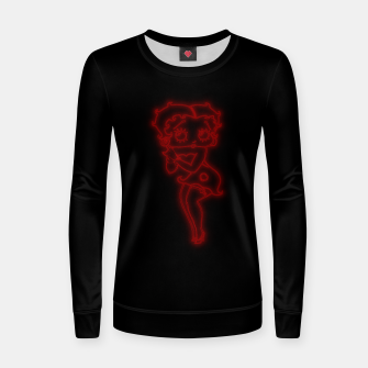 Thumbnail image of Bright Red Neon B Boo Women sweater, Live Heroes