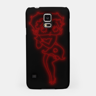 Thumbnail image of Bright Red Neon B Boo Samsung Case, Live Heroes
