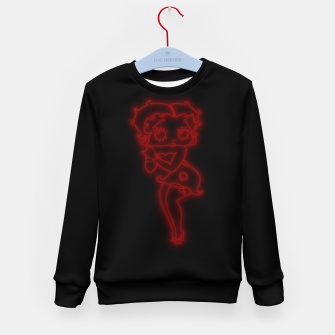 Thumbnail image of Bright Red Neon B Boo Kid's sweater, Live Heroes